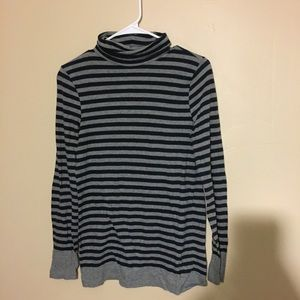 Striped turtle neck sweater by jcrew size small